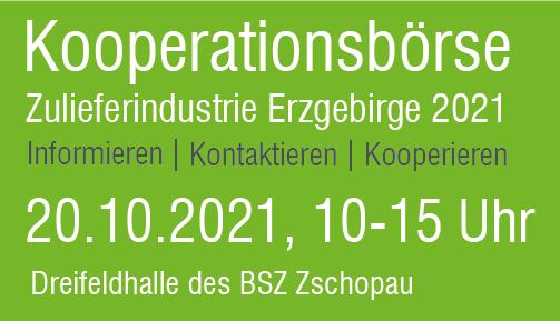 Wir sind für Sie da ! Kooperationsbörse Erzgebirge 2019